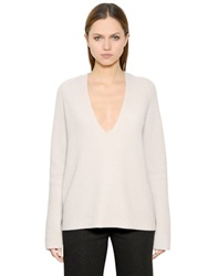 Helmut Lang Deep V Neck Wool And Cashmere Sweater