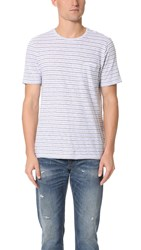 Club Monaco Multi Stripe Tee Grey Stripe