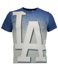 Forever Collectibles Men's Los Angeles Dodgers Big Logo Sublimated T Shirt Royalblue Gray