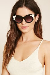 Forever 21 Daisy Trim Cat Eye Sunglasses