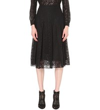 Philosophy Pleated Lace Skirt Black