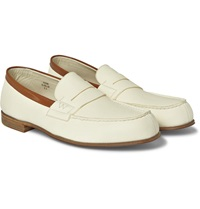 J.M. Weston 281 Le Moc Textured Leather Loafers