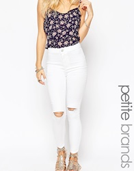 New Look Petite Highwaisted Tube Jean White