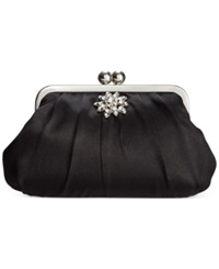Style And Co. Beth Satin Clutch Black