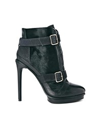 Supertrash Night Platform Heeled Ankle Boots Black