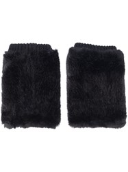 Urbancode Synthetic Fur Cuffs Black