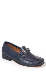 Sandro Moscoloni Men's Almeira Bit Loafer Navy Leather