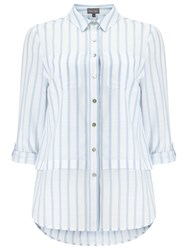 Phase Eight Verity Stripe Shirt White Blue