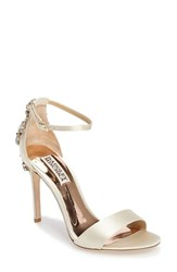 Badgley Mischka Women's Bartley Ankle Strap Sandal Ivory Satin