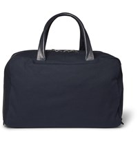 Alvaro Leather Trimmed Canvas Holdall Navy