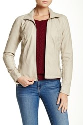 Kenneth Cole Faux Leather Jacket Multi