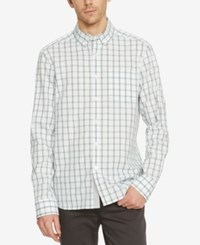 Kenneth Cole New York Men's Check Long Sleeve Shirt Palm Combo