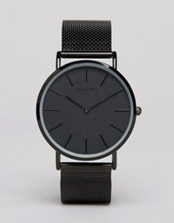 Reclaimed Vintage Classic Mesh Watch In Black Black