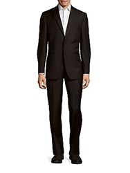 Saks Fifth Avenue Solid Woolen Suit Black