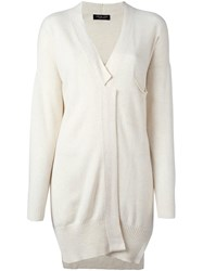 Twin Set One Button Cardigan Nude And Neutrals