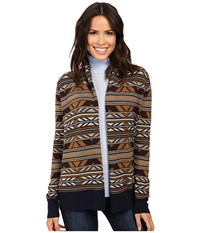 Pendleton Mckenzie Cardigan Navy Multi Women's Sweater Blue