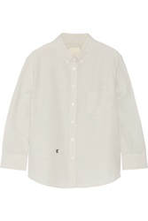 Band Of Outsiders Striped Cotton Shirt Gray