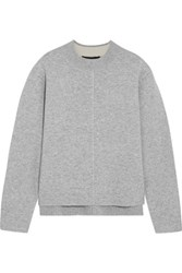 Proenza Schouler Cashmere Blend Sweater Light Gray