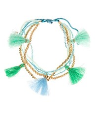 Lonna And Lilly Tassel Accented Slider Bracelet Green