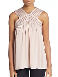 Max Studio Embroidered Tank Top Pink