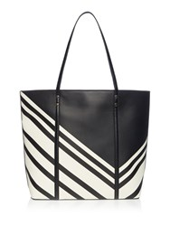 Linea Rowan Shopper Black White Black White
