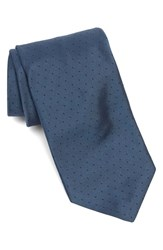 Men's Todd Snyder White Label Dot Silk Tie Slate Blue