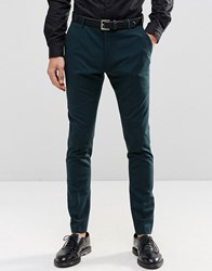 Selected Homme Suit Trouser In Superskinny Fit With Stretch Bottle Green