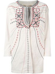 Bazar Deluxe Embroidered Jacket Nude And Neutrals