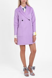 Paul Joe Women S Double Faced Wool Coat Boutique1 Purple