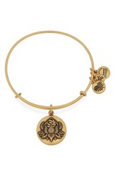 Women's Alex And Ani 'Lotus Peace Petals' Bangle Bracelet Gold
