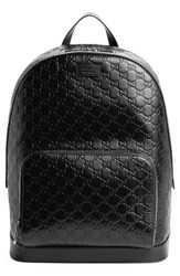 Gucci Men's Embossed Leather Backpack