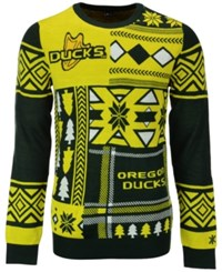 Forever Collectibles Men's Oregon Ducks Patches Christmas Sweater