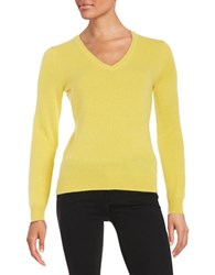 Lord And Taylor Basic V Neck Cashmere Sweater Bamboo