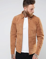 Nudie Jeans Criss Suede Patched Jacket Tan Suede