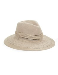 Collection 18 Woven Panama Hat Beige