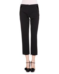 Giorgio Armani Cropped Straight Leg Pants Black