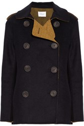 Derek Lam 10 Crosby By Wool Blend Coat Storm Blue