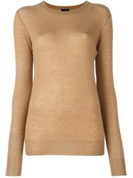 Joseph Elbow Patch Jumper Nude And Neutrals