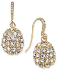 Charter Club Gold Tone Pave Cluster Drop Earrings Only At Macy's