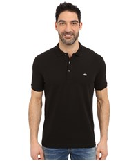 Lacoste Stretch Petit Piqu Slim Fit Polo Black Men's Short Sleeve Pullover