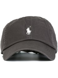 Polo Ralph Lauren Logo Embroidered Hat Grey