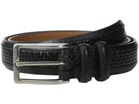 Allen Edmonds Woven Inlay Black Custom Calf Black Weave Men's Belts