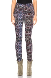 Isabel Marant Nella Printed Jeans In Blue Abstract