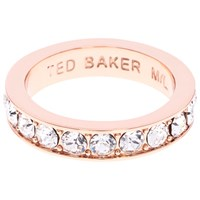 Ted Baker Claudie Crystal Ring Rose Gold