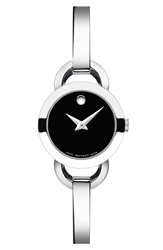 Movado 'Rondiro' Small Round Bangle Watch 22Mm Silver Black