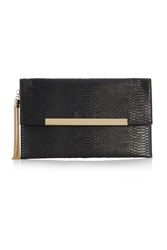 Coast Maya Snake Skin Clutch Black