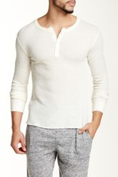 Bottoms Out Thermal Henley Tee White