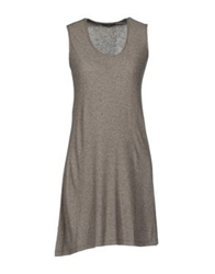 Almeria Sleeveless T Shirts Dove Grey