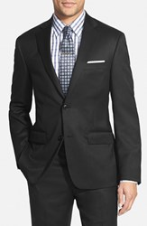Men's Big And Tall Nordstrom Classic Fit Wool Blazer Black
