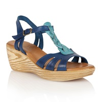 Lotus Parmaggiano Wedge Sandals Blue